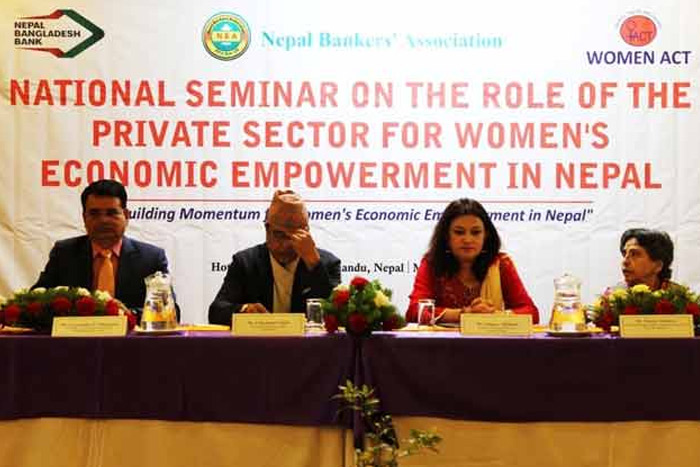 National seminar on the role of the private sector for women's economic empowerment in Nepal