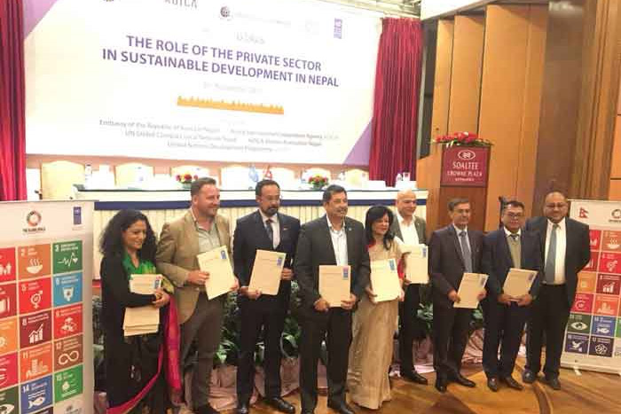 MOU Signed between Nepal Bankers' Association and United Nations Development Project